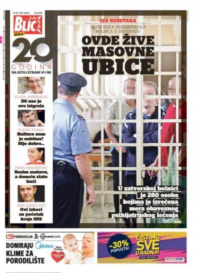 Pregled dnevne štampe – Blic – 24.07.2016.